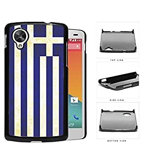 Greece Flag Blue White Stripes Grunge Hard Snap on Phone Case Cover Lg Google Nexus 5