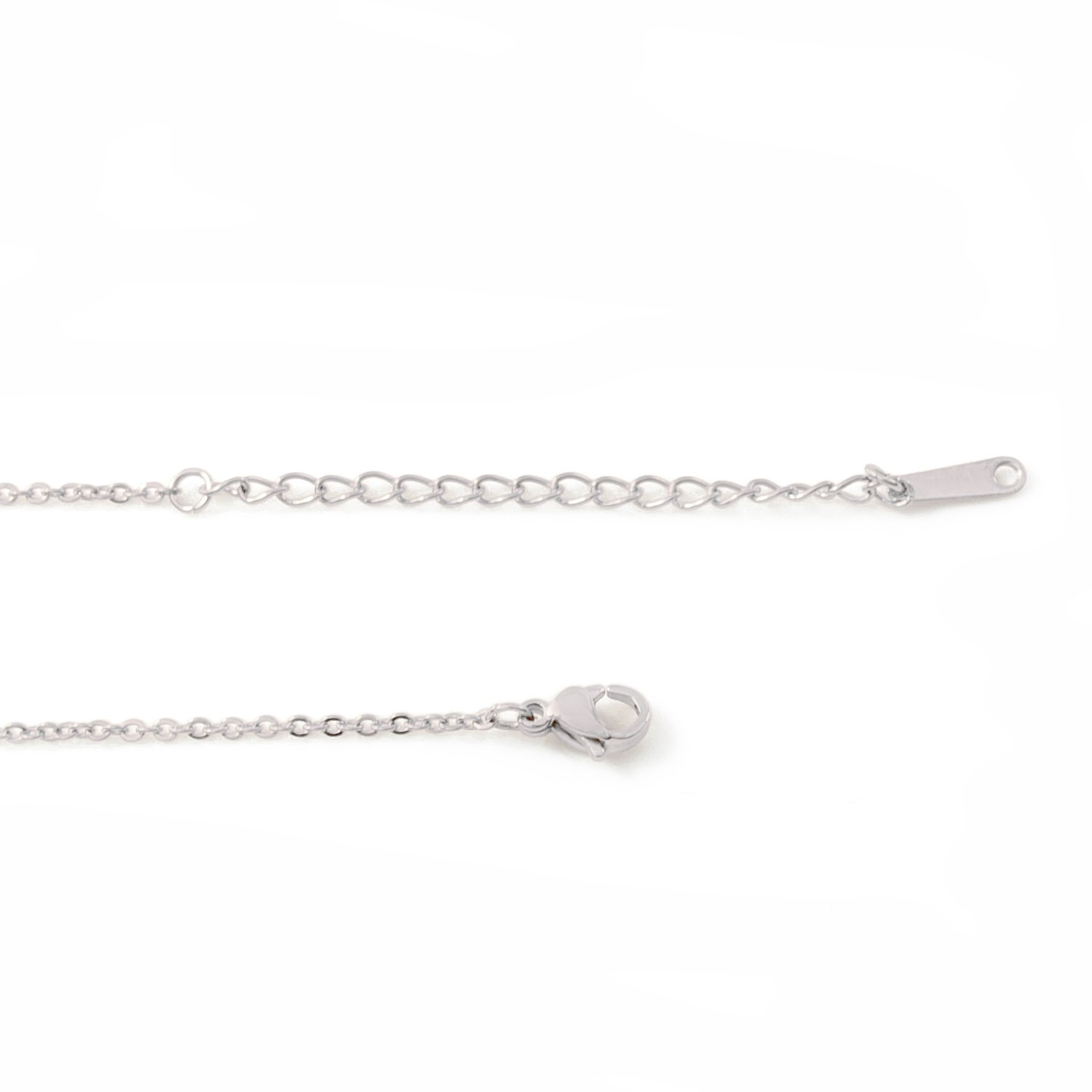 Zacria Italic Name Necklace Arianna Silver Tone