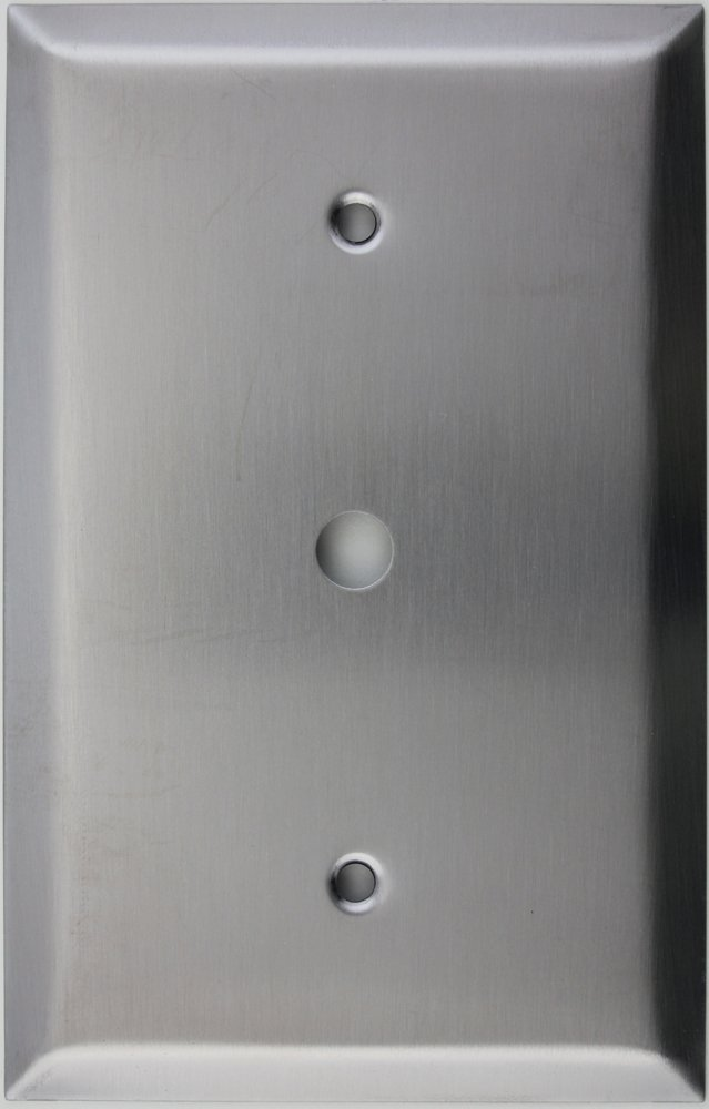 Oversized Jumbo Satin Stainless Steel 1 Gang Cable TV/Coaxial Cable Wall Plate