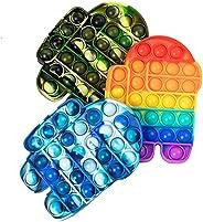 LANQKUISZ Pop Push its tie dye Bubble Sensory Fidget Toy Autism Special Needs Stress Reliever for Kids & A