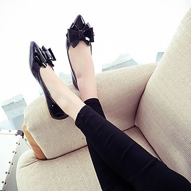 Cómodo y elegante soporte de zapatos de las mujeres pisos primavera verano otros casual sintética soporte de talón otros negro rosa rojo gris negro