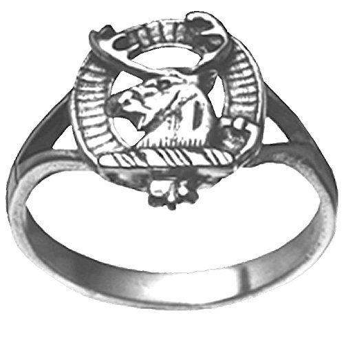 Scottish Ladies Clan Crest Ring LC200 Style - Clan Crest Ring