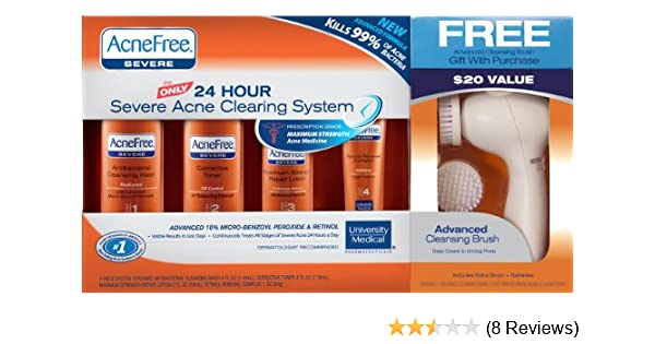 Amazon Com Acnefree 24 Hour Severe Acne Clearing System With Free