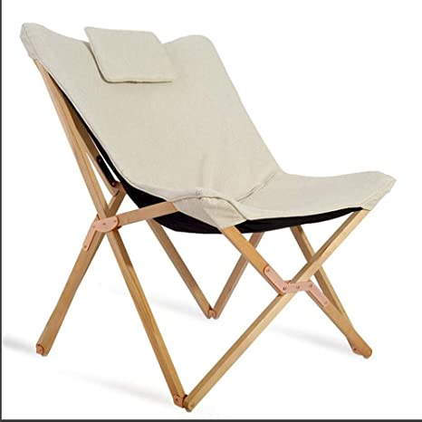 Amazon Com Solid Wooden Patio Chair Outdoor Folding Adjustable Reclining Chairs Pool Side Using Lawn Lounge Chair With Pillow Color Natural Kitchen Dining