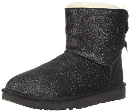 UGG Women's Mini Bailey Bow Sparkle Boot Black 7 B US