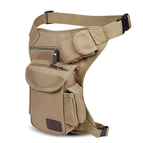 Tactical Leg Bag Men's Canvas Hip Belt Bum Thigh Pack Practical Tactics Waist Pouch for Outdoor Sports Racing Bike Cycling Multi-Purpose Messenger Shoulder Bag by laamei (Image #1)
