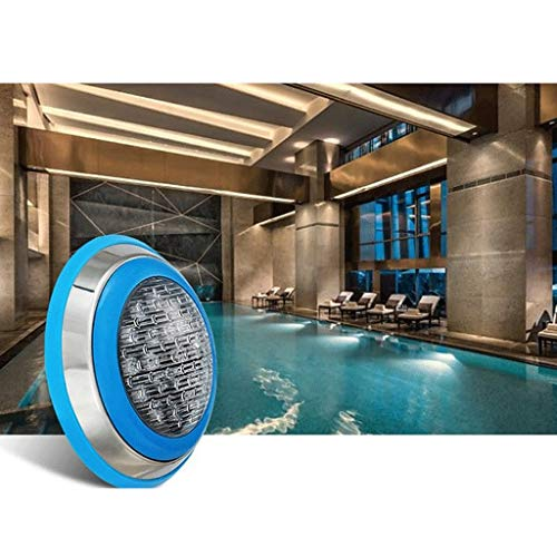 Fityle Swimming Pool LED Light AC 12V/24V 9W/12W RGB Underwater Lights,Stainless Steel, IP68 Waterproof - 18 W by Fityle (Image #2)