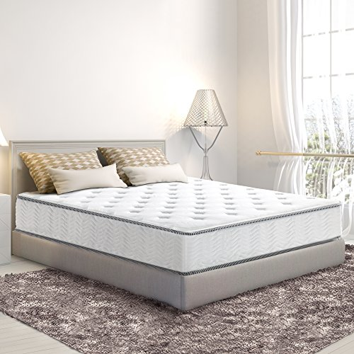 (SLEEPLACE SVC10SM01K 10 in Milky way Tight Top Spring Mattress, King)