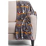 Halloween Owl Throw Blanket Berkshire Blanket Opulence Mummy Vampire Fleece
