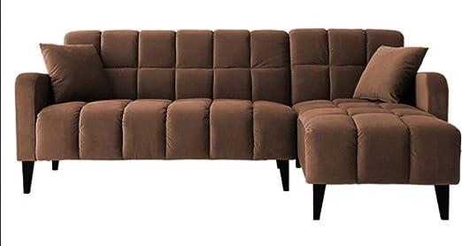 QZXCD Sofá Creativo pequeño apartamento sofá de Tela Moderno ...
