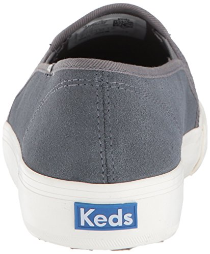 Dark Gray Keds Perf Double Suede Women's Decker Sneaker r0qYr