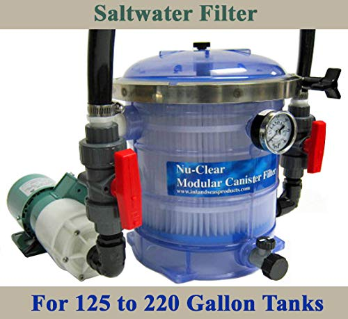 Saltwater 125 to 220 Gallon Tank Nu-Clear Filter, Iwaki Pump & Plumbing Package ()