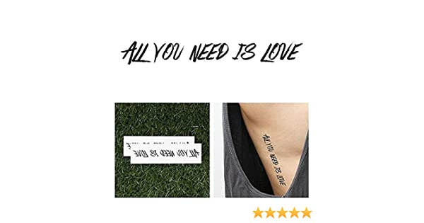 Tatuaje Temporal Tattify - Letras de los Beatles - Love Love Love ...