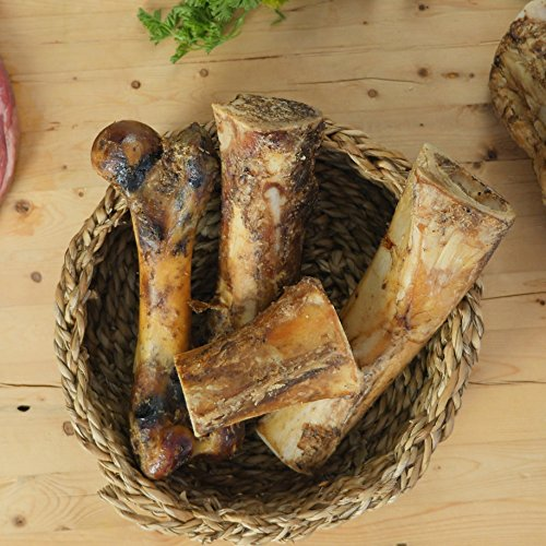 Pawstruck Meaty Dog Bones - Bulk Beef Dog Dental Treats & Chews, Made in USA, American Made, Shin Femur Meat Bone (8-9 Bone (10pk)) by Pawstruck (Image #4)