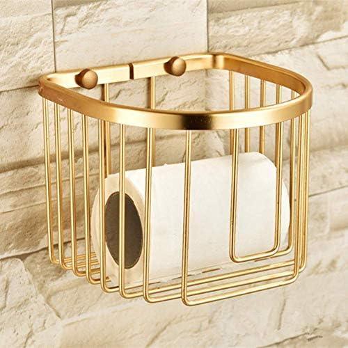 Badezimmer-Wand-Behälter Korb Badezimmer Gold-Regal Papierhalter Dusche Caddy Wandhalterung aus Aluminium Tissue Box Shampoo Halter Toiletten Regale dongdong