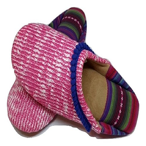 Dearfoams Knit Women's Wild Rose Closed Summer Scuff Toe ArSAqvO