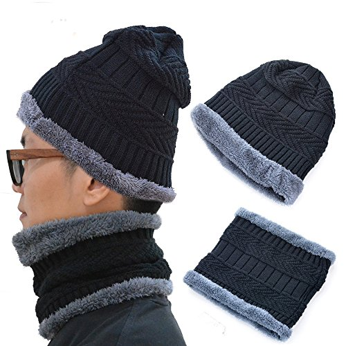 Winter Beanie Hat and Warm Scarf Set