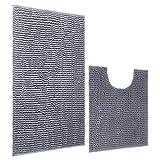 Junovo Bath Mat Rug Set, Includes 50X50cm Absorbent Carpet for Bathroom Toilet and 50X80cm Microfiber Soft Shaggy Non Slip Bathroom Rug (Grey)