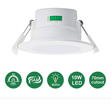 Philips LED Essential SmartBright Downlight Kit with plug 10W DN024B 3000K