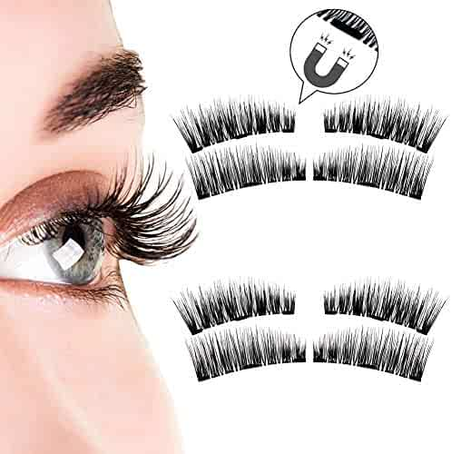 fd7673ad2d1 Beatife Natural Magnetic False Eyelashes[Upgraded], 3D Three Magnets Thin  Soft, Much