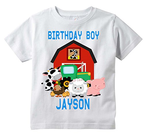 - Farm Animal cute Birthday Tee - Personalize Custom ANY Name/Number, All Sizes