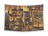 Gear New Wall Tapestry For Bedroom Hanging Art Decor College Dorm Bohemian, Monte Carlo Monaco By Night, 80x68