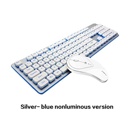 Anna-neek Keyboard Conjunto Inalámbrico De Teclado Y Mouse, Teclado Y Ratón Mudos A