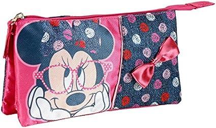 Minnie – Estuche escolar 3 compartimentos Minnie Mouse Disney A La Escuela: Amazon.es: Oficina y papelería