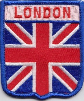 (London Union Jack Flag Embroidered Badge (a390))