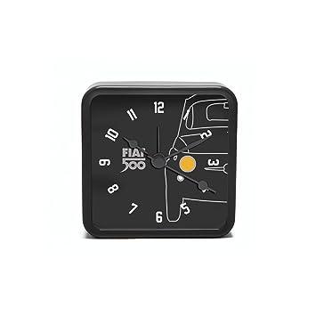 Fiat 500 fior32 Reloj de mesa cuadrado, metal, negro, 8 x 8 ...