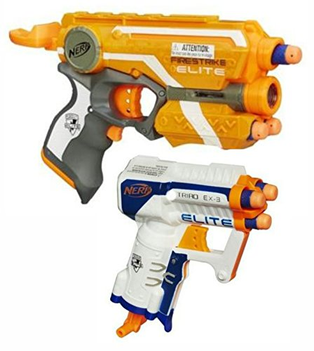 Nerf Elite Bundle: One Nerf N-Strike Elite Firestrike Blaster Set and One Nerf N-Strike Elite Triad EX-3 Blaster