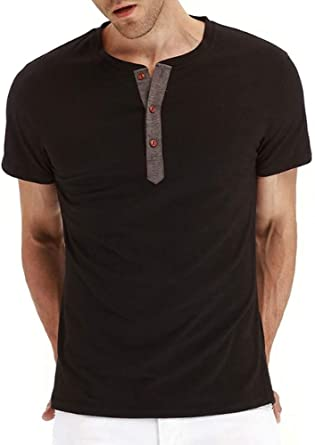 ZONGMIC - Camiseta de Manga Corta para Hombre (algodón, Cuello ...