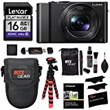 Panasonic LUMIX DMC-LX10K Camera, Lexar 16GB Memory Card, Ritz Gear Tripod, Cleaning Kit, Point & Shoot Case, Card Reader Writer and Accessory Bundle