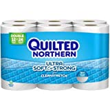 Quilted Northern Ultra Soft & Strong with Cleanstretch Double Roll Toilet Paper, 176 sheets, 12 rolls