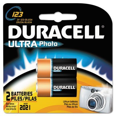 Duracell Ultra High-Power Lithium Battery, 123, 3V, 2/Pack - Case with ()