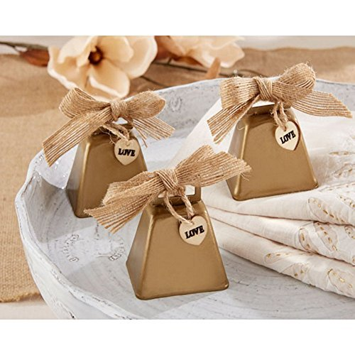 Country Charm Cowbell Kissing Bell (Set of 24) by KA