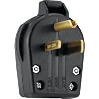 Eaton S42-SP Commercial Grade Angle Vinyl Power Plug with 30/50-Amp, 250-Volt, 6-30/6-50-NEMA Rating, Black by Eaton