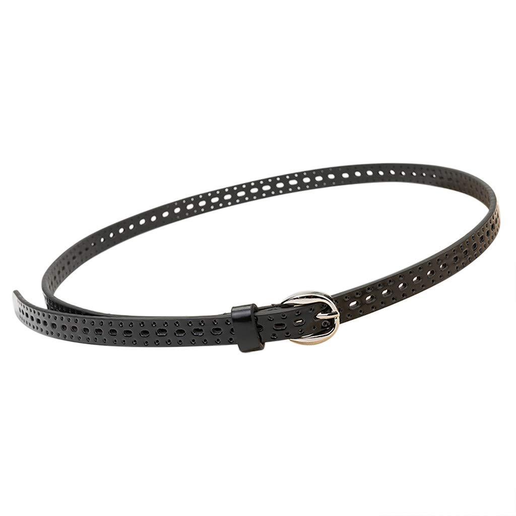 Fashion Braided Narrow Thin Waist Belts Women Retro Waistband Buckle Strap Boho