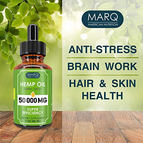51mWgRQ R L - Hemp Oil Drops (50000MG) - Best Natural Hemp Seed Oil - Premium Colorado Seed Extract - Only Natural Ingredients - for Pain and Inflammation Relief, Reduces Stress and Anxiety, Provides Restful Sleep