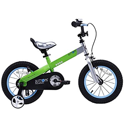RoyalBaby Buttons Kid's Bike, Boy's Bikes and Girl's Bikes with training wheels, Gifts for children, 12-14-16 inch wheels, in 6 colors