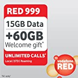 "Vodafone Red 999 Unlimited Postpaid Plan ""SIM Card"""