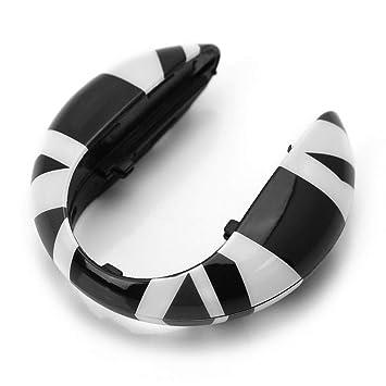 Amazon.com: ijdmtoy (1) negro Reino Unido Union Jack estilo ...