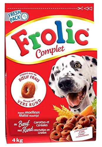 Frolic Komplette Trocken Hunde Rindfleisch Karotten Cã © Ã © Ales 4Kg (Lot von 2) 1
