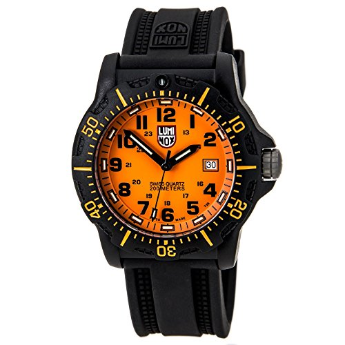 Luminox Black Ops Carbon Series Orange Dial Black Polyurethane Mens Watch 8809.GG