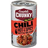 Campbell's Chunky Hot & Spicy Beef & Bean Firehouse Chili, 19 oz. (Pack of 12)