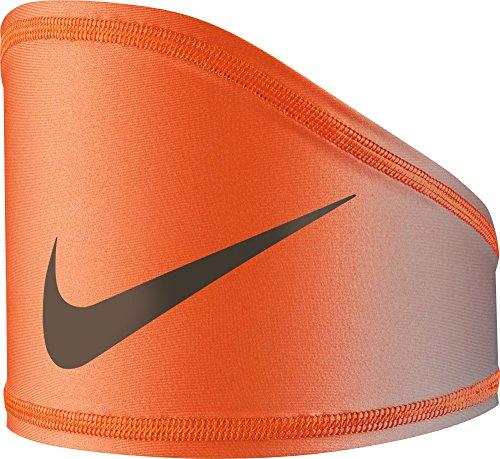 - NIKE Pro Dri-FIT Vapor Fade Skull Wrap (Grey/Orange, One Size)