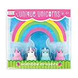 OOLY, Unique Unicorn Strawberry-Scented Erasers, School Supplies for Kids - Set of 4