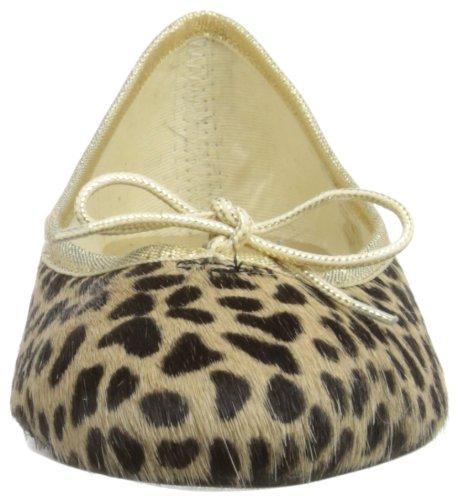French Sole Pt68, Ballerine Donna Marrone (Leopard)