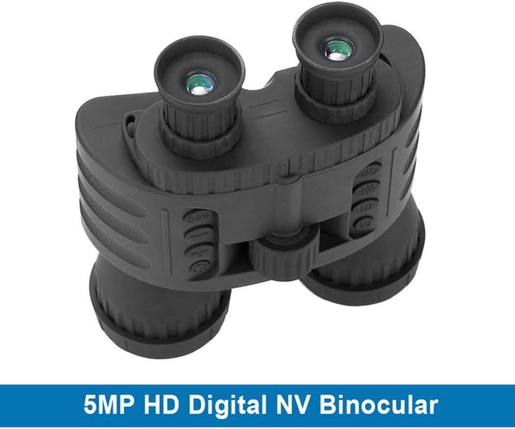 LFDHSF Binoculares Caza 300M GPS HD 720P Visión Noche Binoculares Telescopio 4X50 Zoom 1.5