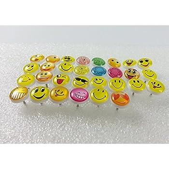Amazon Retro Smiley Face Emoticon Push Pins Plastic Head Thumb